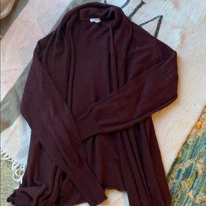 Maroon cardigan Size: S